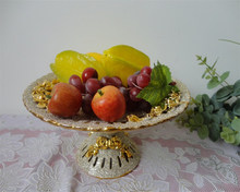 Home fashion craft round porcelain fruit plate