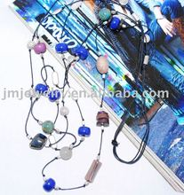Long necklace jewelry for winter sweater decoration