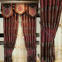 luxury drapes curtains, chenille jacquard curtain fabric,Jacquard Chenille Curtains