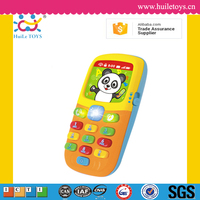 Lovely musical plastic baby toy mobile phone with light