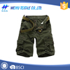 Wholesale men cargo ruffle pattern shorts with belt
