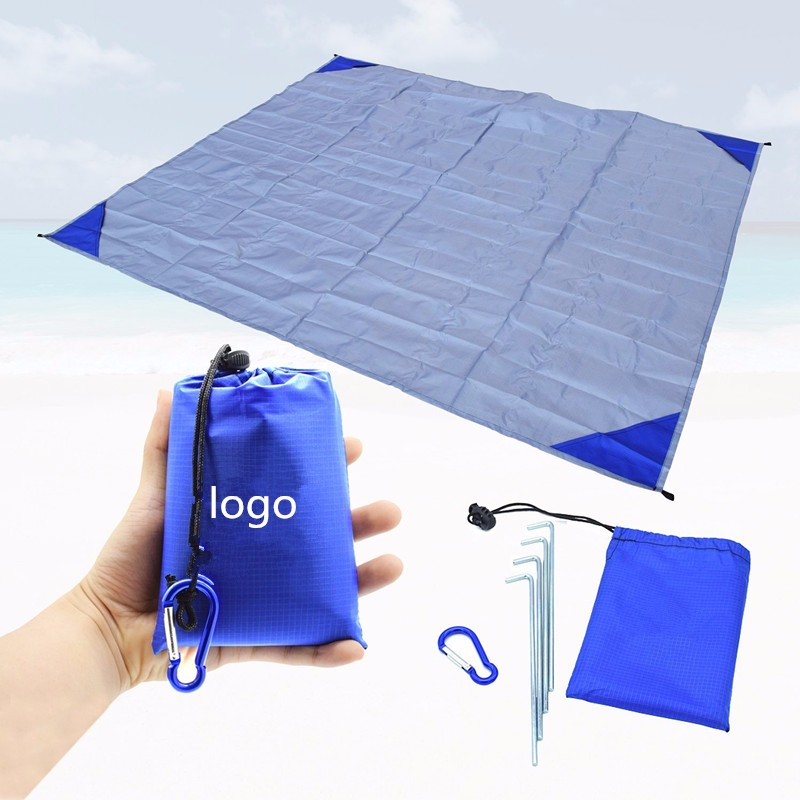 Woqi High Quality Lightweight Waterproof beach outdoor blanket,Compact Picnic blanket made of Nylon beach