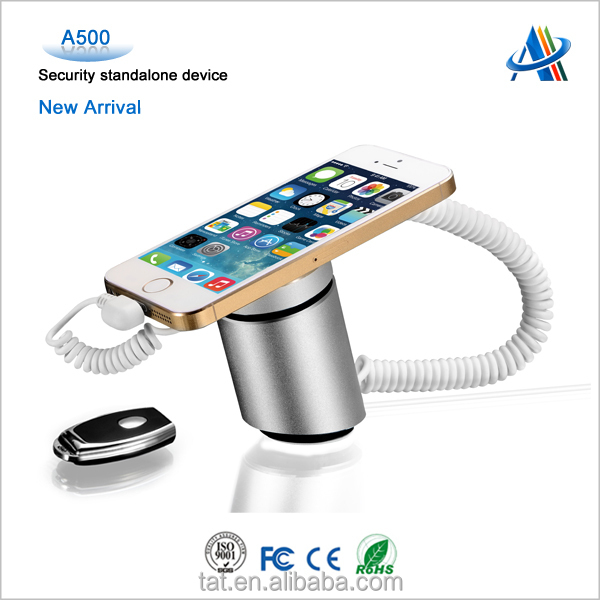 Consumer electronics retail displays security,anti-theft display device for mobile phone with alarm function A500