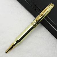 Huahao brand golden color hotel twist action promotional metal ball point pen