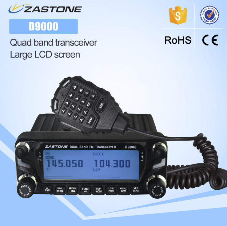 2018 new launch DUAL BAND TRANSCEIVER ZASTONE ZT-D9000 50w mobile radio car mounted two way radio
