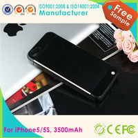 Hot selling 3500 mAh Backup External Battery Power Bank Charger Stand Case for Iphone 5