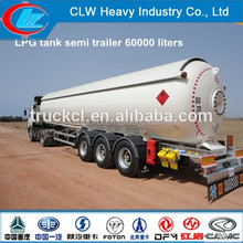 ASME 2 Axles LPG tank trailer 20Tons with flow meter Specifications for sale in Bangladesh