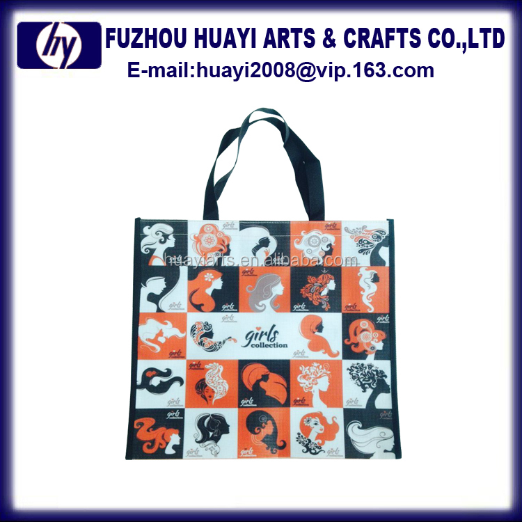 Top quality custom cotton coated pvc shopping bag