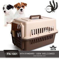 Small plastic flight dog house for sale pet carrier cage colorful IATA pet carrier box