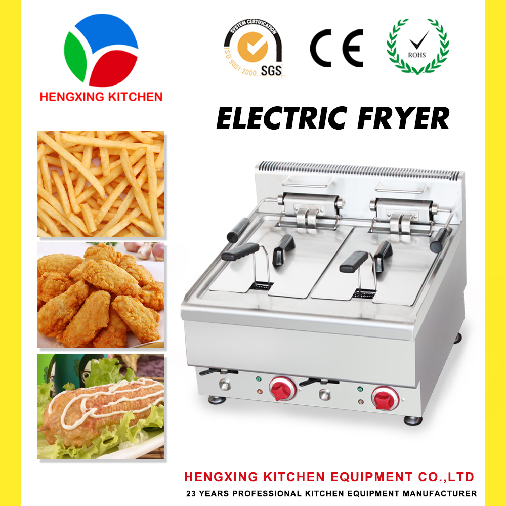 Deep Fryer for Fried Chicken/Deep Fryer With Oil Taps/Table Top Deep Fryer