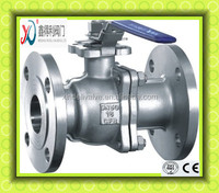 150LB 2PC CF8M CF8 flanged floating ball valve