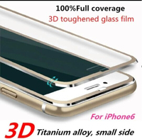 New explosion proof Tough armor Titanium alloy full coverage 9h milo 3D tempered glass screen protector for iPhone 6s 6s plus