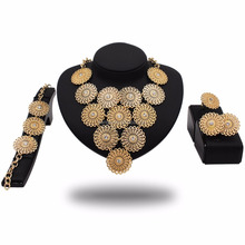 China Import Jewelries Fashion 18k Gold Plated Jewelry Set