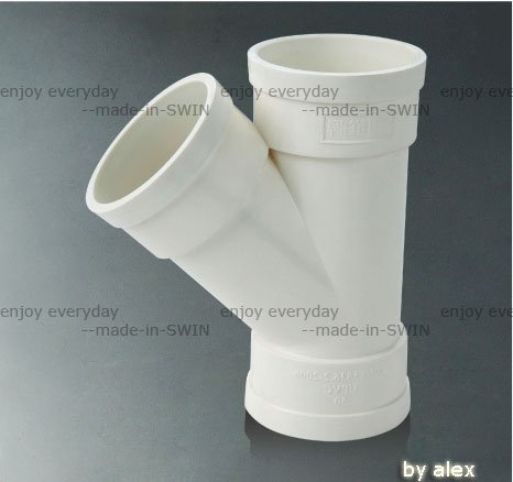 high-performance ivory 45deg PVC equal Y wye pipe fitting