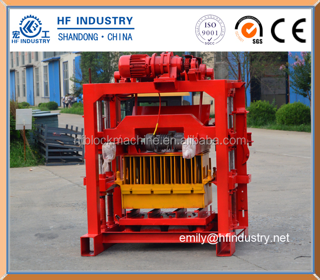 lego interlocking cement block machine QT4-35 new design hot sale high quality block machine price list
