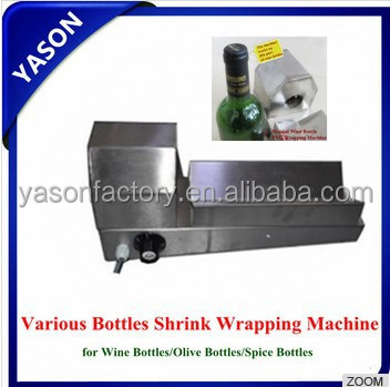 Manual Plastic Cap Shrinking machine bottle shrink wrap machine