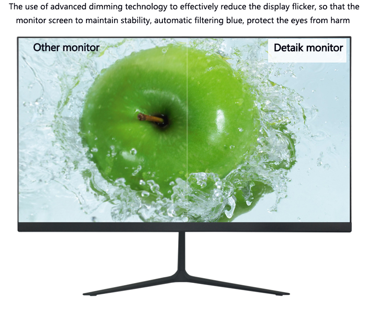 23,8-Zoll-IPS-Panel-LED-Computermonitore schlank 24 Zoll 1920 1080 Full HD LCD PC-Spielmonitor