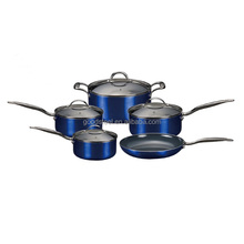 high-end aluminum titanium ceramic coating cookware for easy cooking and cleaning