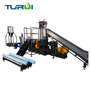 MT75 pp pe pet films woven bags recycling equipment plastic pelletizer machine with compactor