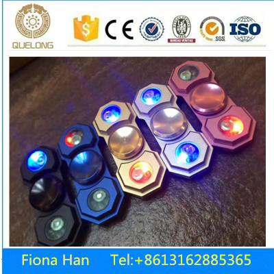Metal LED spinner square with R188 stainless bearing No noise Aluminum LED spinner
