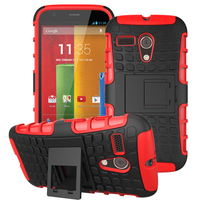 For Motorola Moto G Case, Hard armor protactive phone case back cover with magnet kickstand