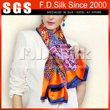 2015 most hot selling fashion scarf lady silk scarf by the yard