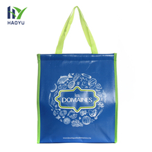 Wholesale custom printing insulated cheap reusable blue pp non woven cooler bag