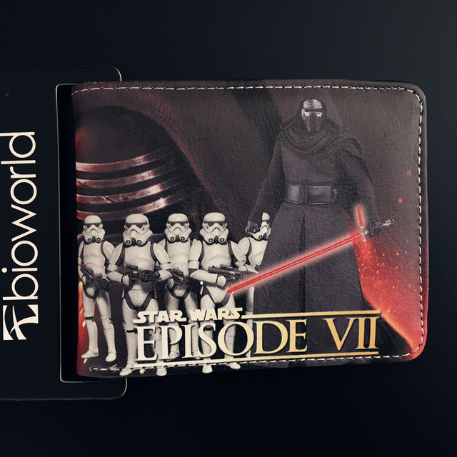 Star Wars Darth Vader Mandalorian Green Star Wars Storm Troops Bo Buffett Bi-Fold Short Wallets With Card Holder Men's Purse