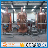 2bbl/3bbl/5bbl/7bbl/10bbl/15bbl/20bbl/30bbl 200l micro brewery equipment red copper brew kettle