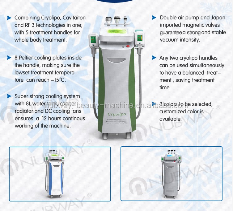 C325 Nubway Hottest Model Cryolipolysis Fat Freezing Machine With 50 Anti Freeze Membrane For Free