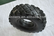 black big square PU foam filling tire 4.10/3.50-4 for handtrolley
