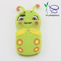 adorable little bee pattern silicone cell phone case for high-end phone accessories