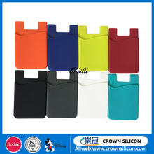 Wholesale silicone mobile phone case card holder wallet