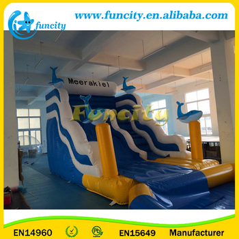 Giant Dolphin Inflatable Water Slide Pool ,Inflatable Swimming Pool and Slide