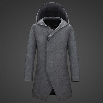 MS70954G Latest men casual woolen with hood coat