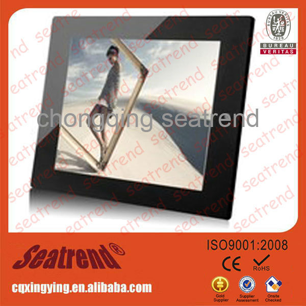 digital photo frame support photo/music/video, CE&ROHS approved high Resolution 1080p led light frame digital photo album