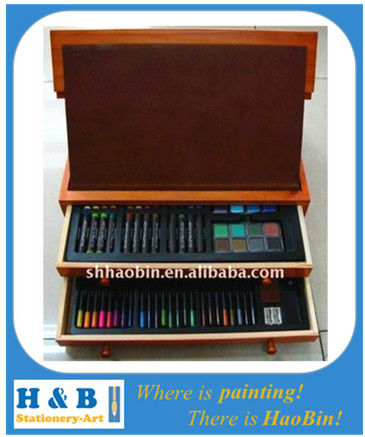 2014 New Product Hot Sales Beautiful Drawing Art Set In Wooden Case For Kids Gift