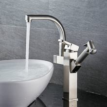 FLG good factory price new design antique brass dual two handle basin faucet