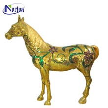 Abstract interior decorates animal horse fiberglass sculpture NTFA-100Y