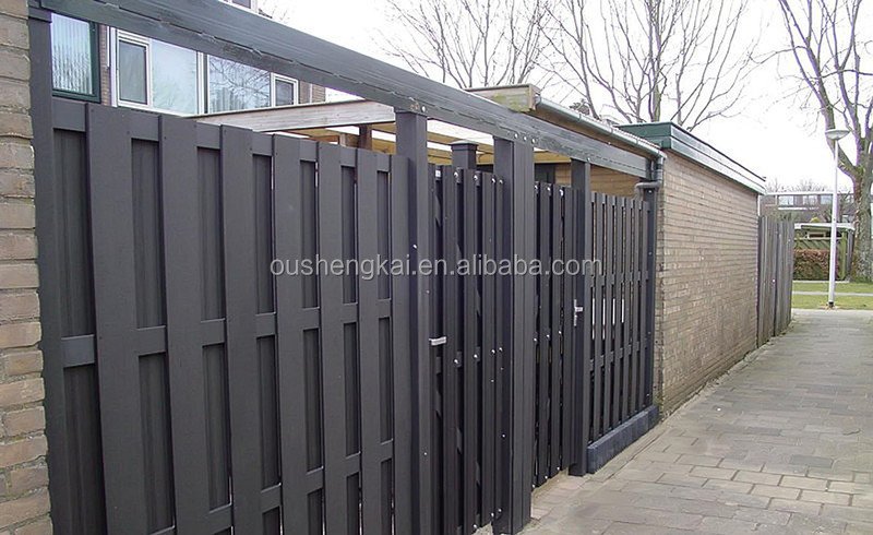 2015 new design outdoor wpc garden fence wood plastic composite fencing