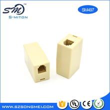 Extend Ivory telephone adapter rj9 4p4c female adapter