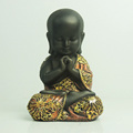 Table decor polyresin black littile monk buddha statue
