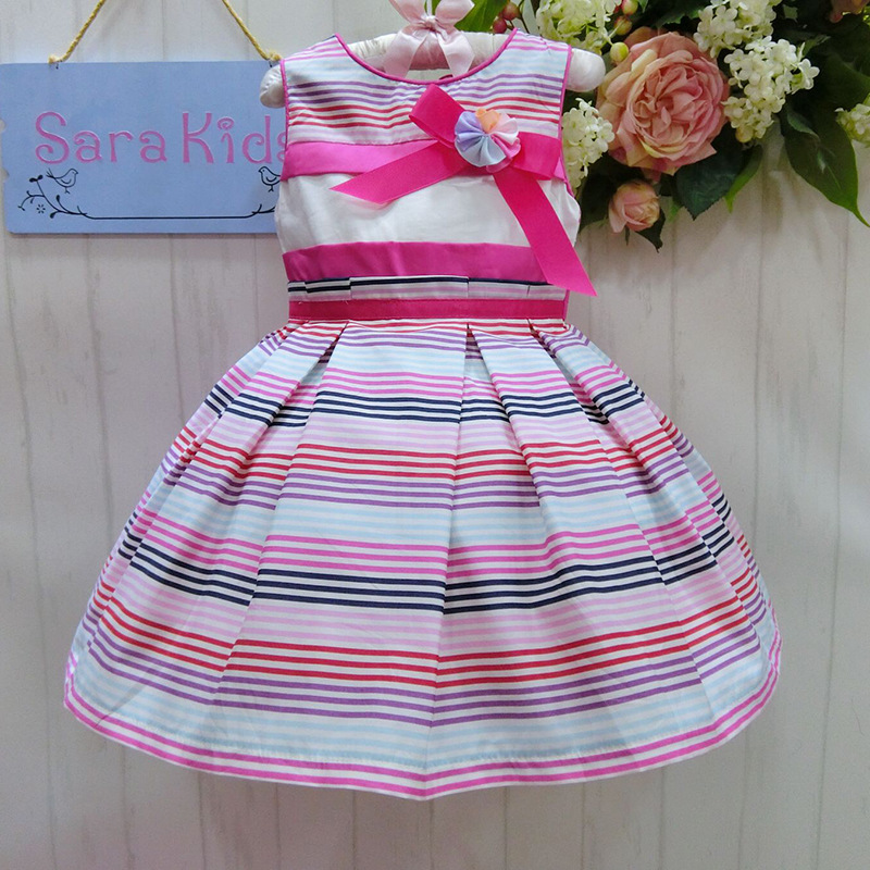2016 New Irregual Strip Big Swing Flower Girl Dress 3 Year Old Girl Dress First Communion Dress 2015132-3