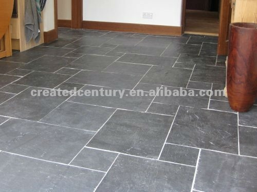 Imperial black interlocking natural stone tile