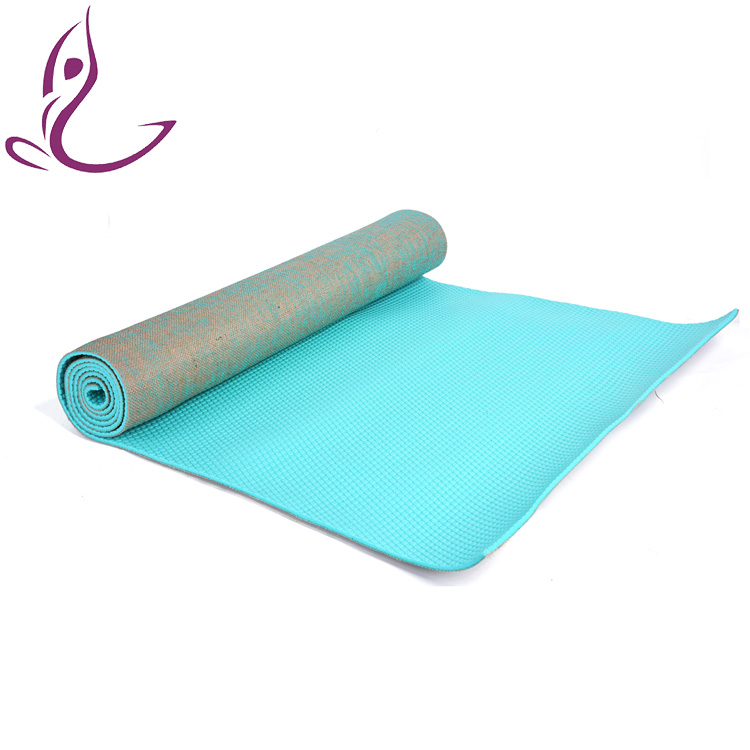 Waterproof Eco-Friendly 4Mm Natural Rubber Jute Yoga Mat