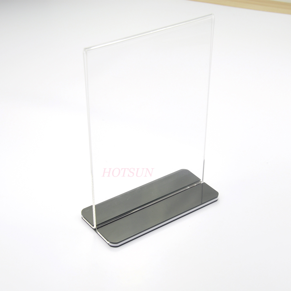 T Shaped Paper Card Stand Plastic Sign Holder Cheap Price Desk Table Tent  37x37 Acrylic Card Holder, View Acrylic Card Holder, Hotsun Product Details