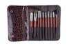 10pcs per set badger make up brush for cosmetic and shaving brush with makeup brush bag
