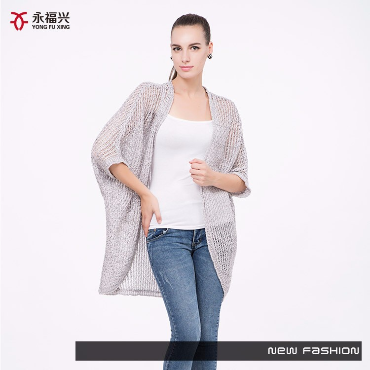 2016 lady summer new fashion ladies hand knitted cardigan