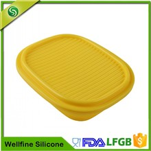 Collapsible Silicone Rubber Food Containers,Custom Silicone Folding Lunch Box