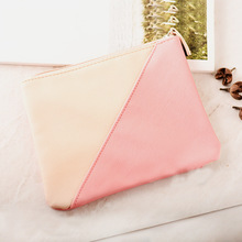 New Leather Cosmetic Pouch Bag Double Colour Wallet storage Makeup Bag for Men